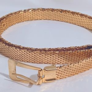 Vintage Gold Belt, Gorgeous & Well-Made XS-S